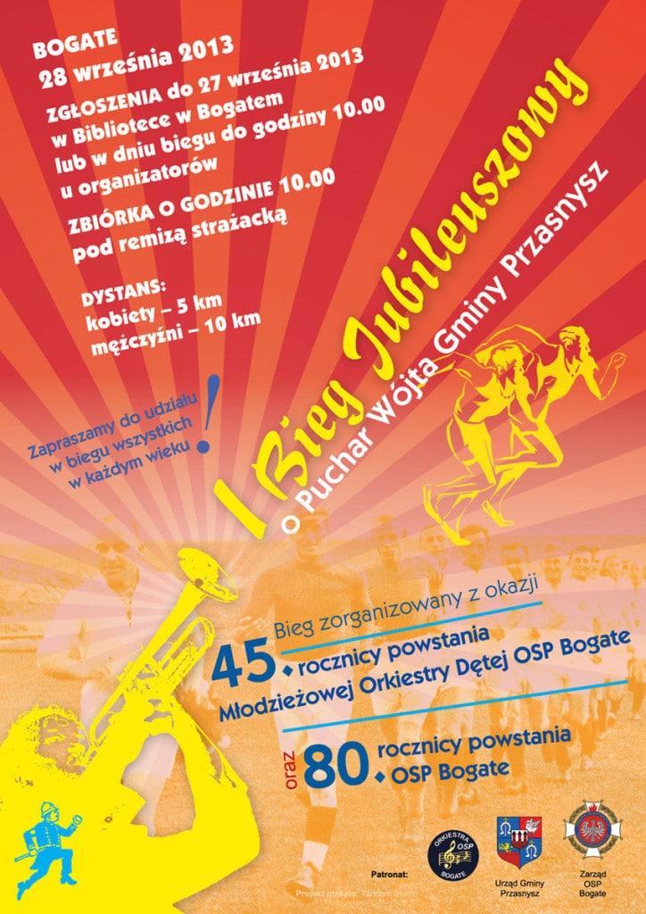 I Jubileiszowy BIEG o Puchar Wojta Gminy Przasnysz - plakat