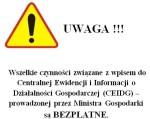Wpisy do CEIDG – UWAGA!