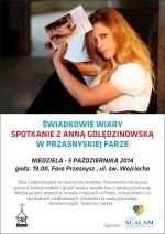 Spotkanie z Anną Golędzinowską w przasnyskiej Farze
