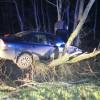 Wypadek samochodu w Chorzelach