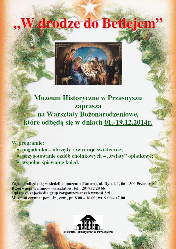 warsztaty Boże Narodzenie