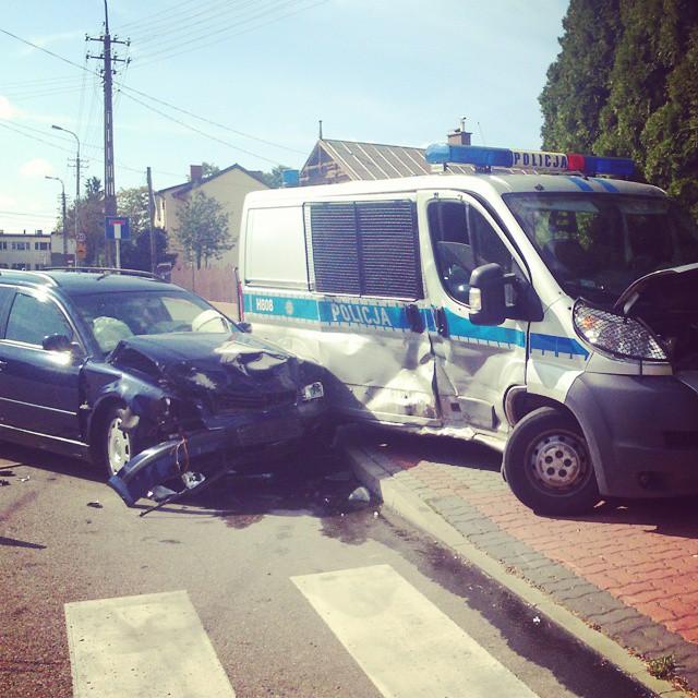 Zderzenie aut na Mazowieckiej w Przasnyszu