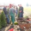 Węgra: Sadzenie drzewek przy świetlicy wiejskiej