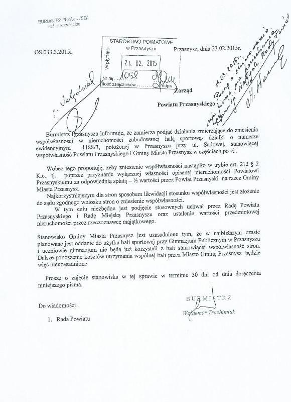pismo burmistrza 2