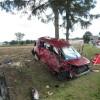 Zderzenie samochodu osobowego z dostawczym w Krzynowłodze Małej