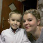 Karolina Jezierska z synem