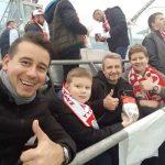 Arkadiusz Chmielik z synem i Waldemar Białczak z synem