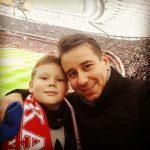 Arkadiusz Chmielik z synem
